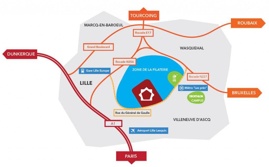 Plan Zone de la Pilaterie